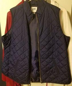 Old Navy Navy Puffer Vest